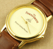 The Famous Grouse Scotch Whisky Promotional Quartz Watch 34mm New Old Stock