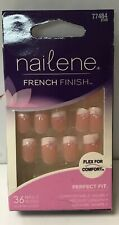 Nailene French Finish Perfect Fit medium length Square Shape with flower 77484