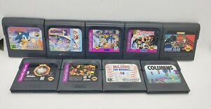 Lot of Sega Game Gear Games! Sonic Drift Streets of Rage ++ 9 Great Titles!