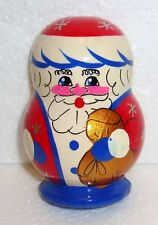 BEAUTIFUL RUSSIAN WOODEN MAGNET ~ SANTA CLAUS ~ HAND PAINTED ~ NEW