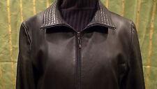 Sleek, supple, Kenneth Cole Leather Jacket, black ladies L