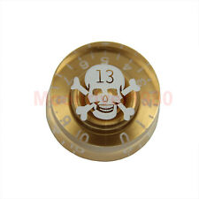 Skull Speed Control Gold Knob For Gibson Les Paul Electric Guitar Part 1PC