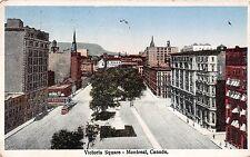 Canada postcard Montreal Victoria Square ca 1930