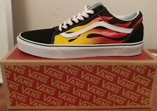 VANS OLD SKOOL FLAME FLAMES WHITE BLACK SZ 11 BRAND NEW IN BOX AUTHENTIC