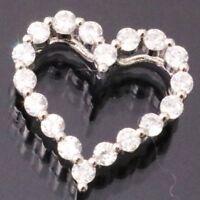 SOLID 14k White Gold 1.5 Ct White Brilliant Round Cut Diamond Pendant Charm Gift