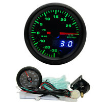 52mm 7 Colors Turbo Boost Gauge PSI Meter Analog/Digital Dual Display 10-15V
