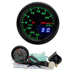 52mm 7 Colors Turbo Boost Gauge PSI Meter Analog/Digital Dual Display 10-15V