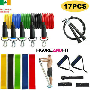 Resistance Bands Exercise Loop Crossfit Strength Skipping Rope Gym Fitness 17pcs
