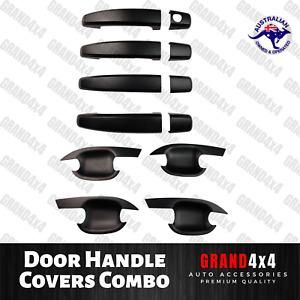 Door Handle Cover Combo Trim Matte Black to suit Holden Colorado 2012-2018