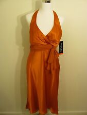 NIGHT WAY Collections Orange Evening Formal Gown SIZE 10 Brand New