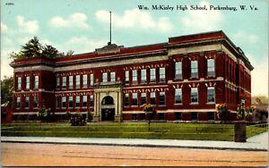 Postcard William McKinley High School in Parkersburg, West Virginia~2221