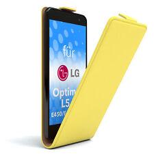 Tasche f. LG Optimus L5 II - E450 / E455 / E460 Flipcase Schutzhülle Etui Gelb