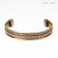 ONE ION Chain Patterned Copper Magnetic Power Balance Ion Bracelet  Energy Band