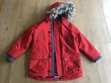 Mini Boden Parka coat Red 6-7 Lightly Used
