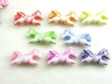 150x  Colorful Horse Pony Acrylic Beads Charm Jewelry Crafts 8 Color US Seller