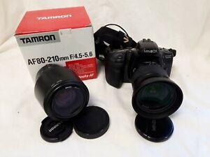 Minolta Dynax 500SI 35mm Film Camera Includes Tamron 80-210mm Lens #775