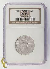 2002 PLATINUM P$50 1/2 onza Estatua de la libertad Graded POR NGC COMO ms-69