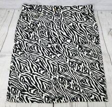 NWT Jones New York Sport Pencil Skirt Sz 8 Women Zebra Print Denim Stretch