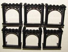 LEGO LOT OF 6 BLACK CASTLE ARCHES ARCHWAY WEDDING PIECES PARTS