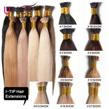 10A I Tip Hair Stick Tip Remy Human Hair Extensions Micro Ring Bead 100 Strands