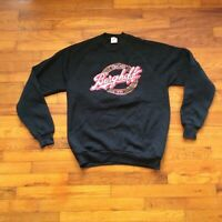 Vintage 90s Chicago Berghoff Restaurant Black Sweatshirt Size XL Runs Small