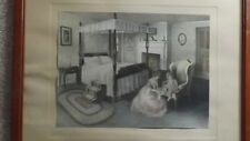 """**EARLY**BESSIE PEASE GUTMANN-ORIGINAL LARGE PRINT PENCIL SIGNED-**""""BED TIME***"""