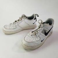 Nike Air Force 1 AF1 Mens White Black Trim Low Top Sneakers AJ7747-100 Size 11.5