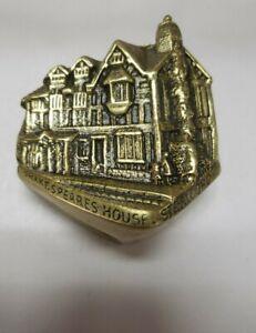 Fantastic Antique Brass Door Knocker Shakespeares House Stratford 1564 - 1616