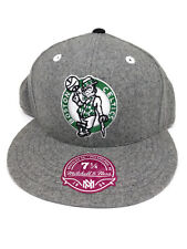 Boston Celtics Mitchell & Ness Gray Flannel Fitted Cap (7 1/4) NEW