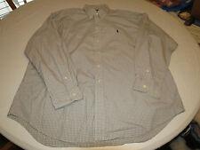 Ralph Lauren XL Blake plaid cotton long sleeve button up Shirt EUC@
