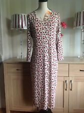 River Island Long Knit Winter Ditsy Floral Dress Size-16 Lovely Condition (B3)