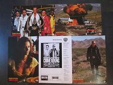CRIME IS KING - 4 Aushangfotos + Weberatschlag - Kurt Russell, Kevin Costner