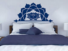 Half Mandala Wall Decal Moroccan Pattern Namaste Lotus Flower Vinyl Sticker NV19