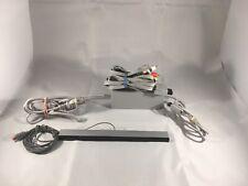 Nintendo Wii Official AV cable Motion Sensor  Bar Power Cord Bundle OEM Original