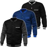 PRETORIAN Sweatshirt Mens Baseball Bomber Jacket Hooligans Casual Black Grey