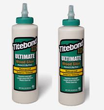 2pk~Titebond III ULTIMATE Tan Wood Glue 16 oz. Waterproof Interior/Exterior 1414