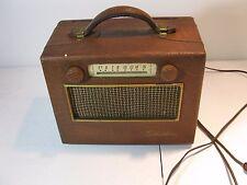 Vintage 1950 Silvertone 225 AM Portable Transistor Radio AC/DC Sears Roebuck
