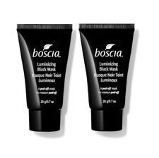 Lot (2) BOSCIA Luminizing Black Mask A Peel Off Mask Deluxe Samples 0.7 oz Each