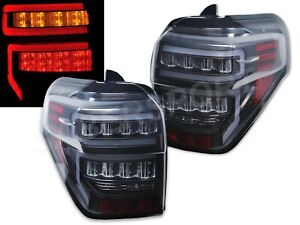 Set of Pair Eagle Eyes Black LED Taillights for 2014-2020 Toyota 4Runner