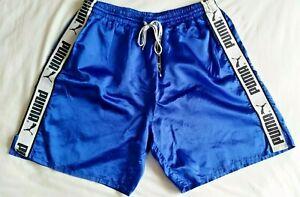 Puma Vintage Football Shorts Sports Nylon shorts size XXL Blue