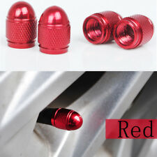 4x Universal Red Bullet Shaped Auto Car Motorcycle Wheel Tire Valve Cap Seal