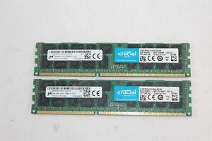 16GB (2x8GB) Crucial CT8G3ERSLD4160B 2Rx4 PC3L-12800R RAM Micron MT36KSF1G72PZ