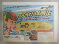 Kellogg's Cereal Ad: Rocket Beanie Premium ! From 1952 Size: 7 x 10 inches