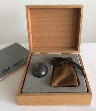 Vintage Super Ellipse Silver Plated Egg in Wood Box by Piet Hein, Denmark 1965