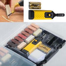 19pc Laminate Floor / Worktop Repair Kit Wax System Chips Scratches Sturdy Case