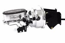 74-86 Jeep CJ Polished/Chrome Wilwood Master Cylinder & Prop Valve & Booster Kit