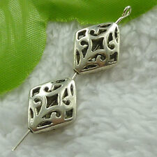 free ship 80 pieces tibet silver nice hollow spacer beads 18x14mm #2731