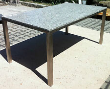 stabiler Gartentisch Esstisch Wohnzimmertisch Granittisch Edelstahltisch Stein