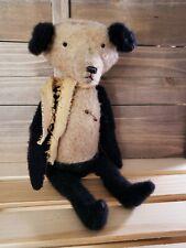 Handmade Primitive Folk Art Panda Bear 8 1/2 inches Tall Farmhouse Decor