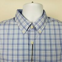 NWT Jos A Bank 1905 Tailored Fit Mens Blue Check Dress Button Shirt Sz Large L